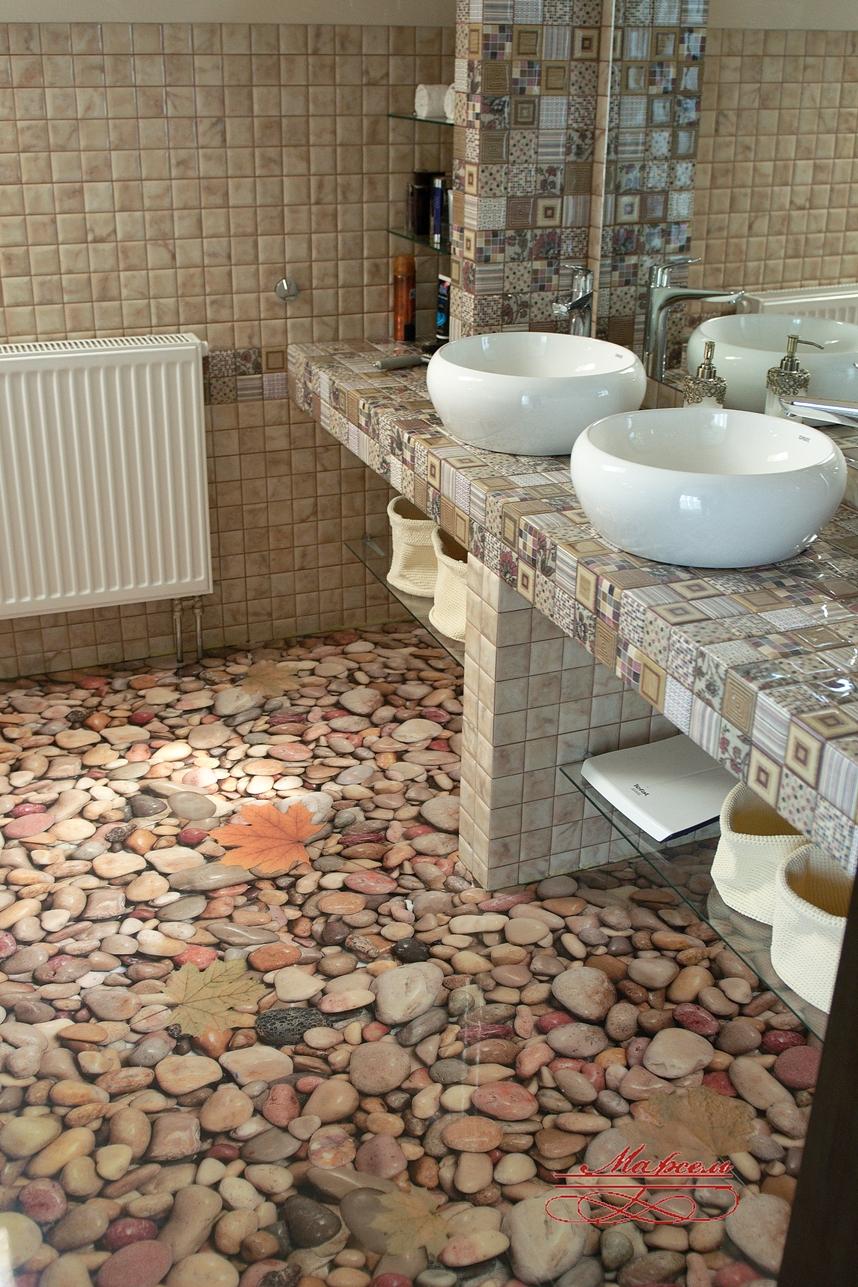 Наливные полы в ванную фото