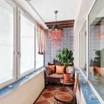 Стильный балкон фото