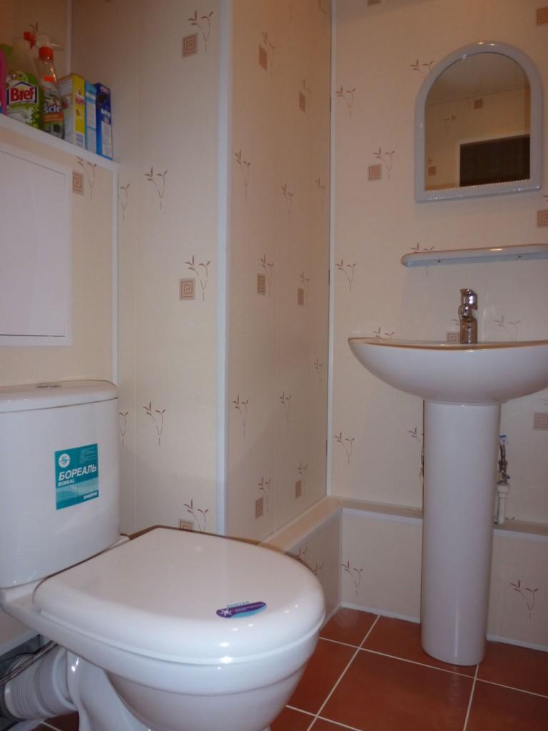 Ремонт туалета комнаты своими руками панелями