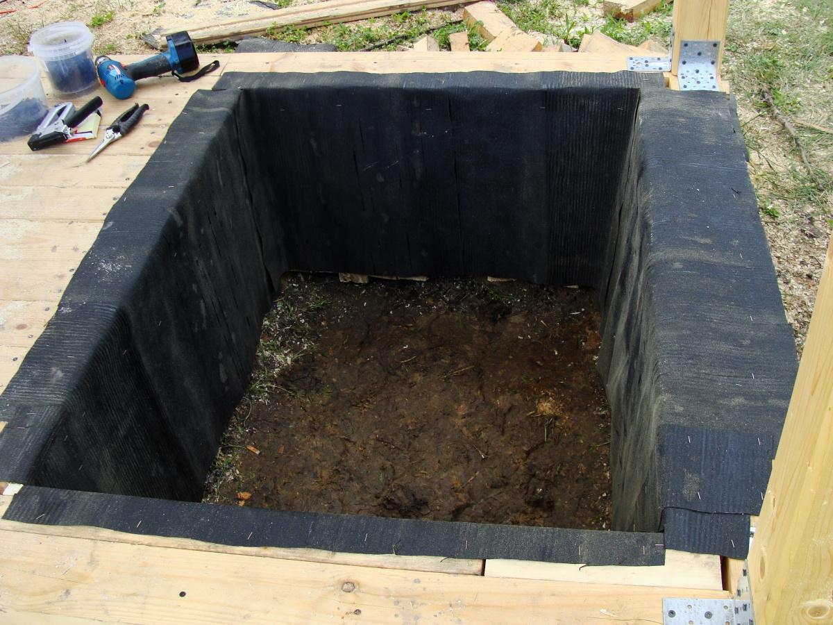 Овощная яма на даче