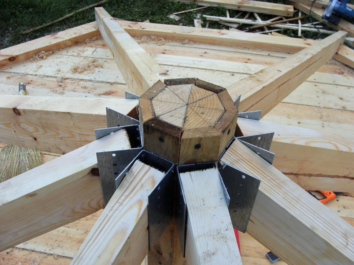 Крыша на беседку своими руками четырехскатная видео