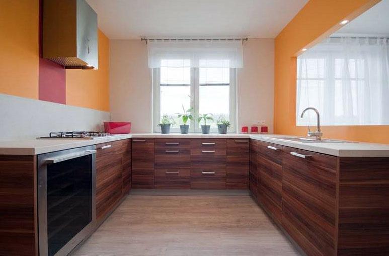 п-образная кухня фото