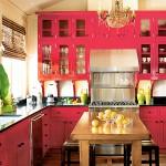 ремонт красной кухни в квартире фото