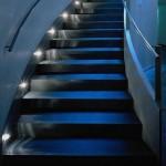 синяя лестница подсветка