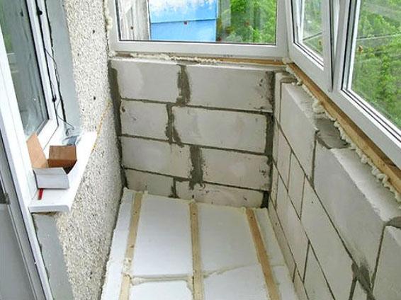 Утепление парапета балкона