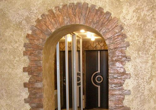 отделка арки декоративным камнем фото дверных проемов